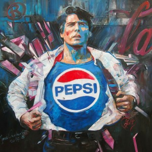 """PEPSIMAN"" oil on canvas 100x100cm, 2017"