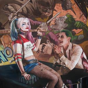 """Joker & Harley"" oil on canvas 140x110cm, 2017"