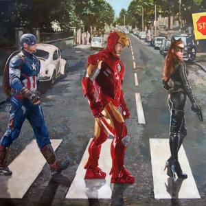 """""""Abbey Road"""" oil on canvas 90x160cm, 2017"""