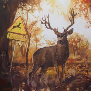 """Deer"" oil on canvas 100x70cm, 2018"