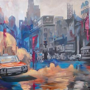"""""""Back to the future III"""" oil on canvas 100x130cm, 2019"""