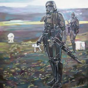526 Stormtrooper oil on canvas 100x70cm 2019