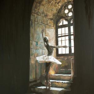 "'Window"" oli on canvas 60x90cm 2020"