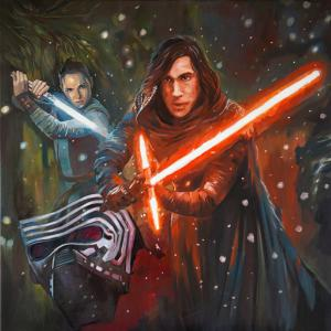 """Kylo Ren and Rey"" oil on canvas 70x70cm 2020"