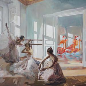 578 Ballet lesson II oil on canvas 100x140cm
